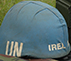 UN Ireland Blue helmet on uniform