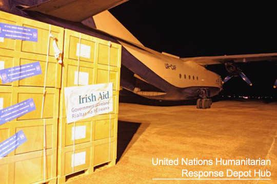 Irish Aid stocks Balkans Brindisi