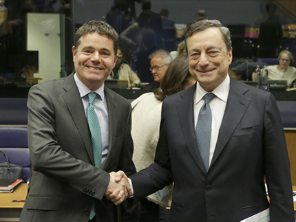 Minister Donohoe and President of the European Central Bank, Mario Draghi