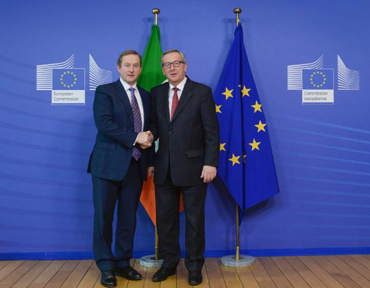 Taoiseach Enda Kenny with Jean-Claude Juncker, President of the European Commission