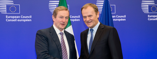 Taoiseach Enda Kenny with Donald Tusk