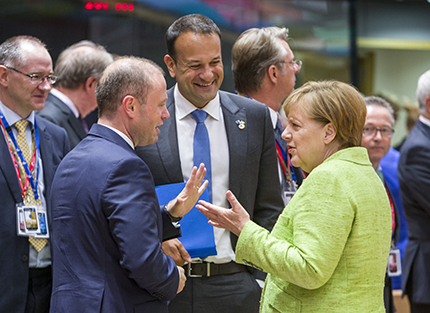 Taoiseach Leo Varadkar with Chancellor Merkel