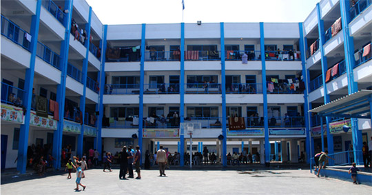 An UNRWA Camp. Credit: Alberto Hugo Rojas.